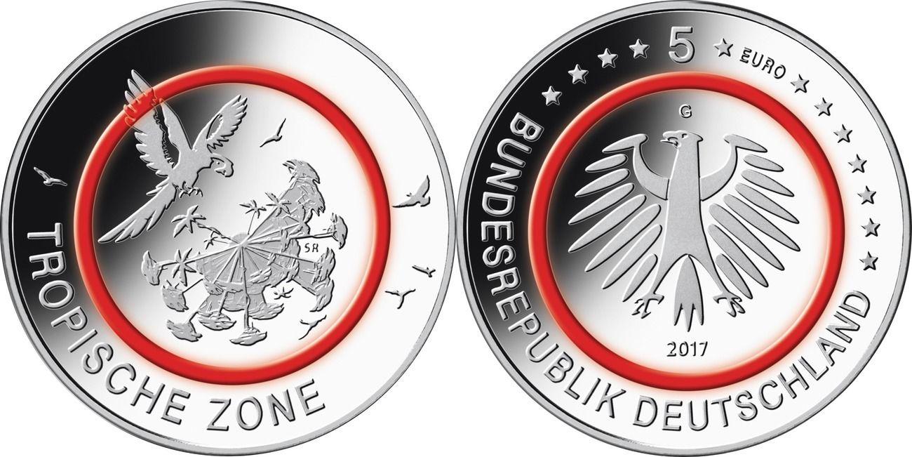 Германия 5 евро 2017 г. G