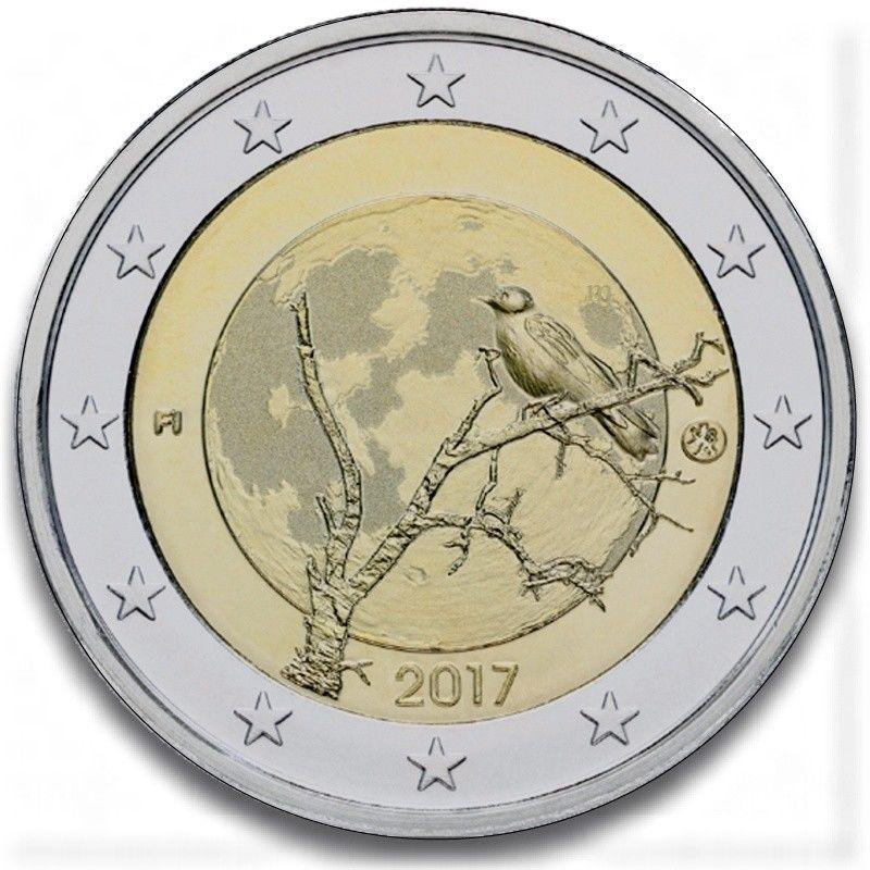 Финляндия 2 евро 2017 г. Природа Финляндии