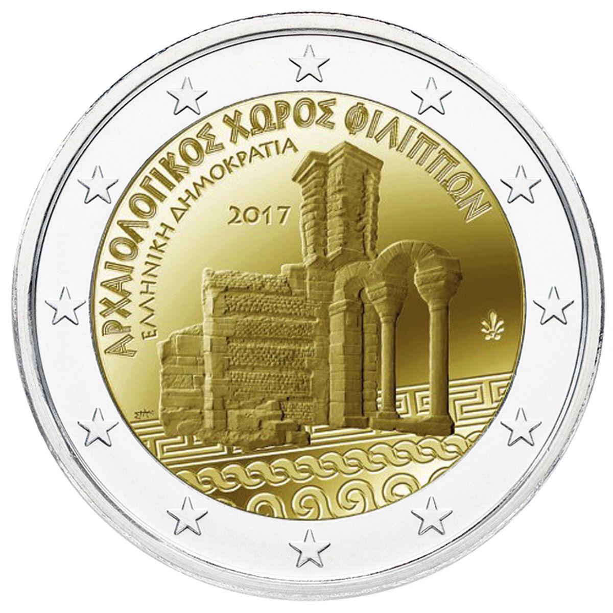 Греция 2 евро 2017 г. Археологический комплекс Филиппы