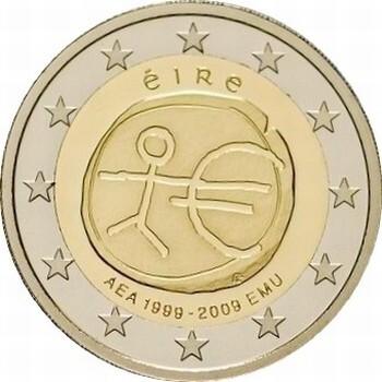 Ирландия 2 евро 2009 г.   10 лет экономическому союзу