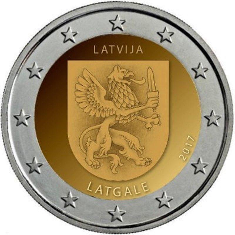 Латвия 2 евро 2017 г. Историческая область Латгале