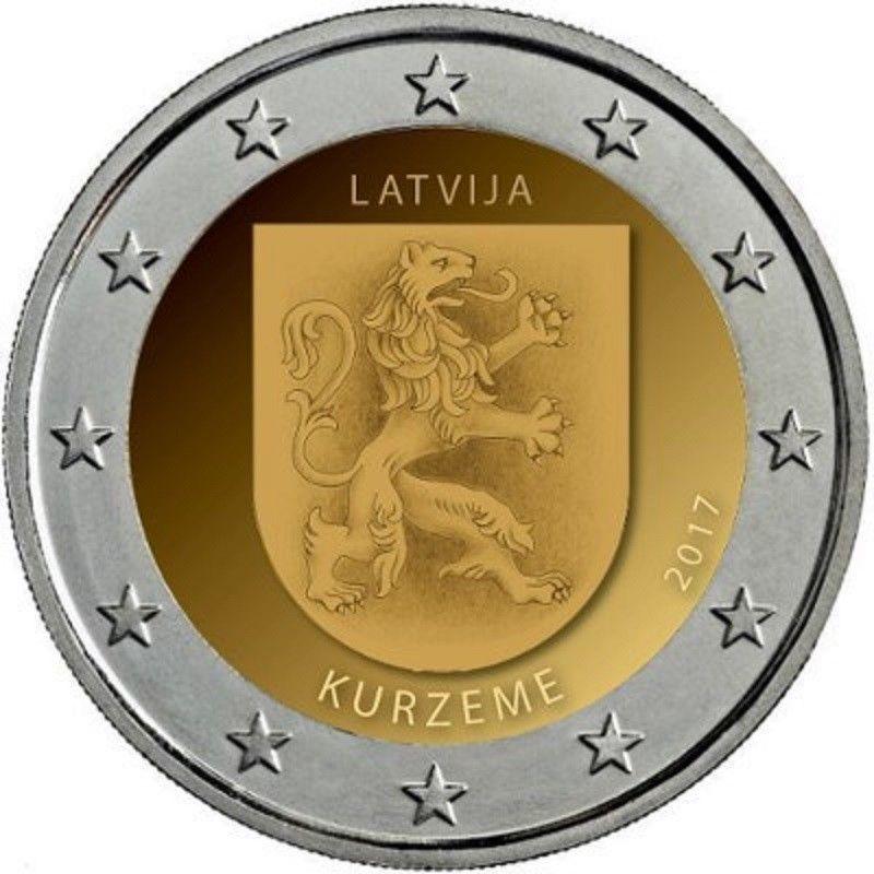 Латвия 2 евро 2017 г. Историческая область Курземе