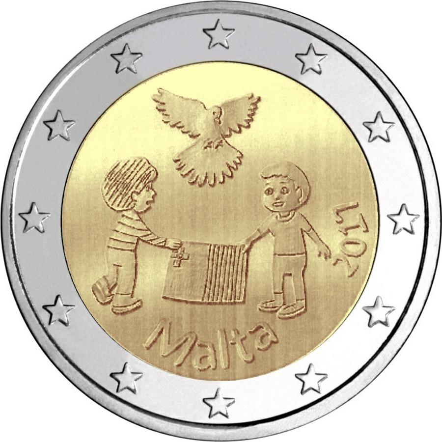 Мальта 2 евро 2017 г. Мир