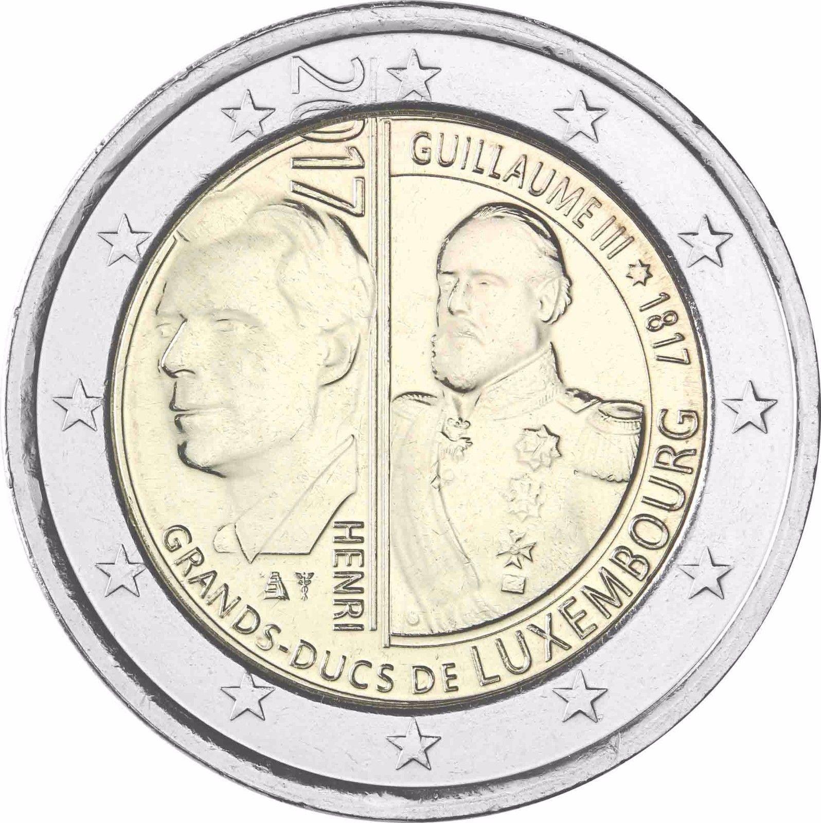 Люксембург 2 евро 2017 г. 200 лет со дня рождения Великого герцога Виллема III