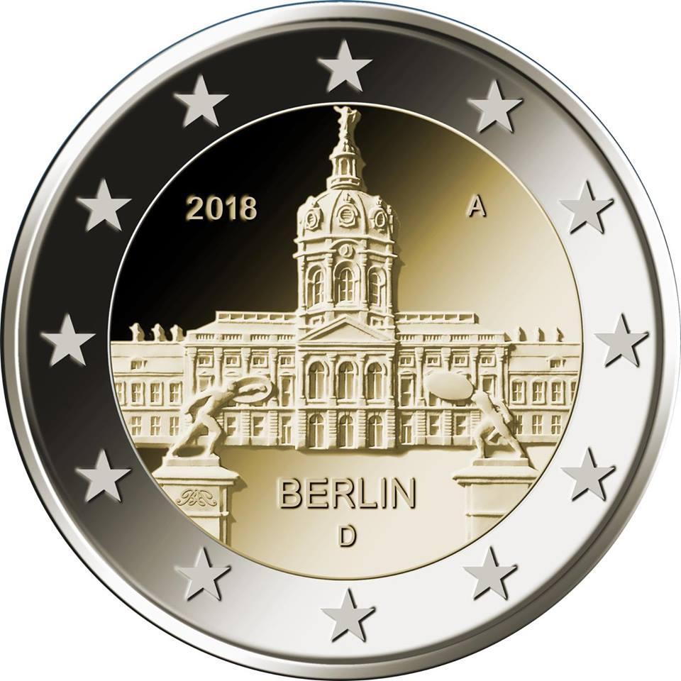 Германия 2 евро 2018 г.  Берлин