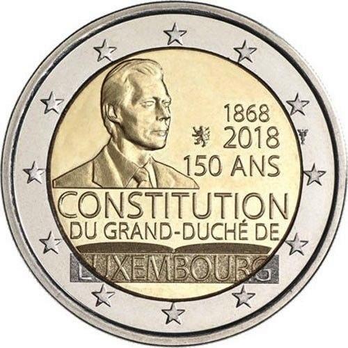 Люксембург 2 евро 2018 г. 150-летие Конституции Люксембурга