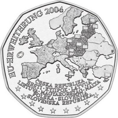 Австрия 5 евро 2004 г. Расширение Евросоюза