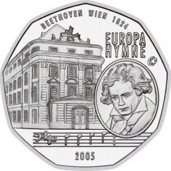 Австрия 5 евро 2005 г. Европейский гимн