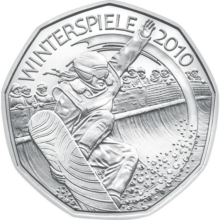 Австрия 5 евро 2010 г. Лыжный спорт