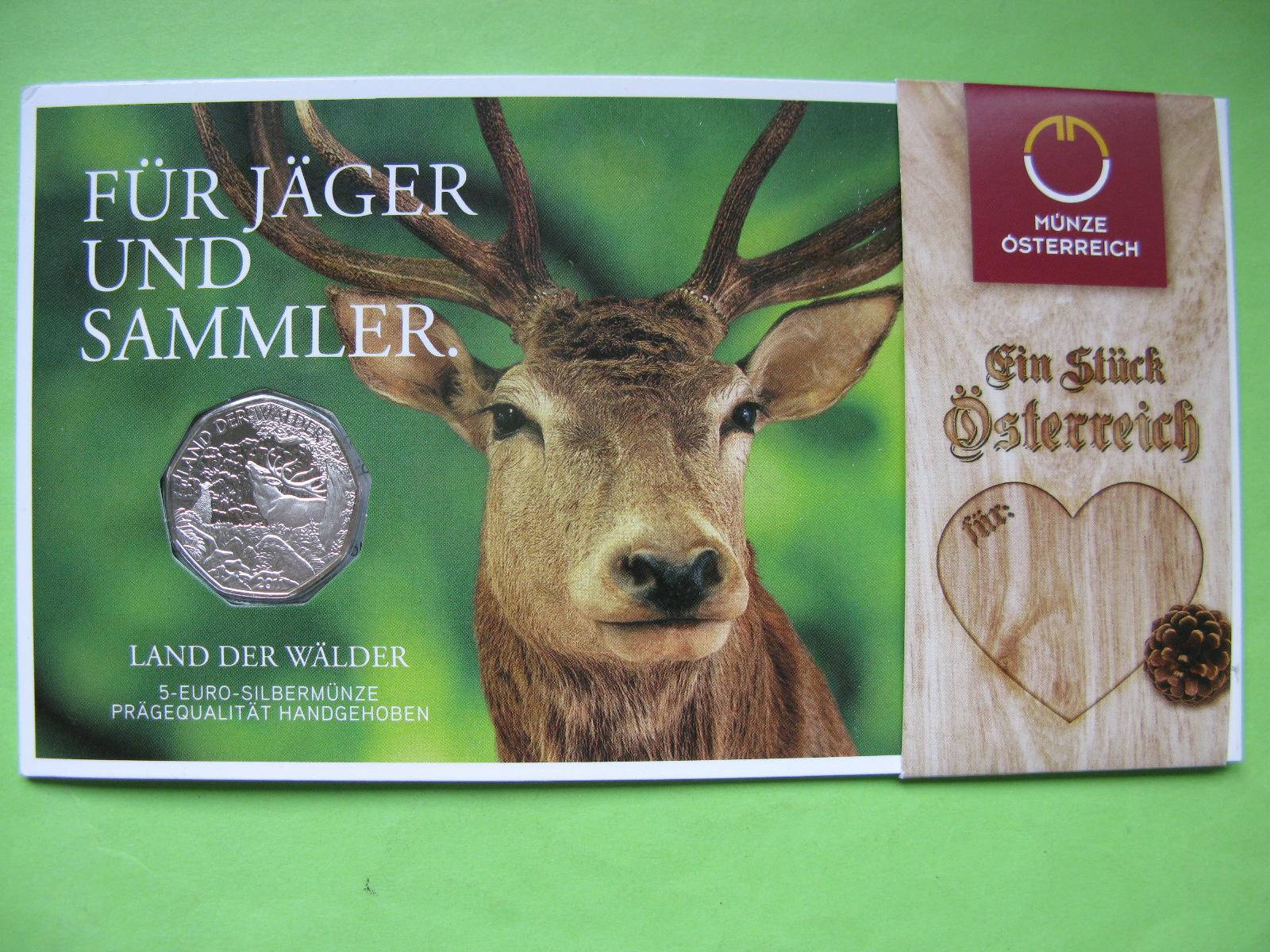 Австрия 5 евро 2011 г. Австрия — страна лесов