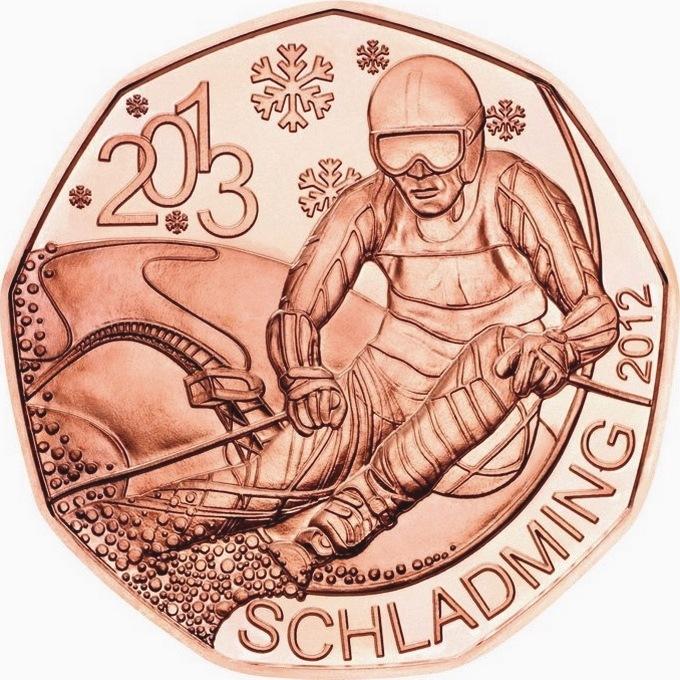Австрия 5 евро 2012 г. Чемпионат мира по горнолыжному спорту