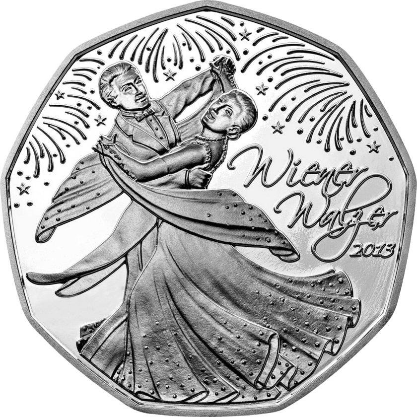 Австрия 5 евро 2013 г. Венский вальс