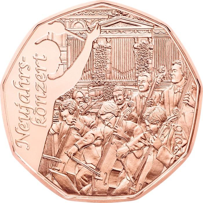 Австрия 5 евро 2015 г. Новогодний концерт
