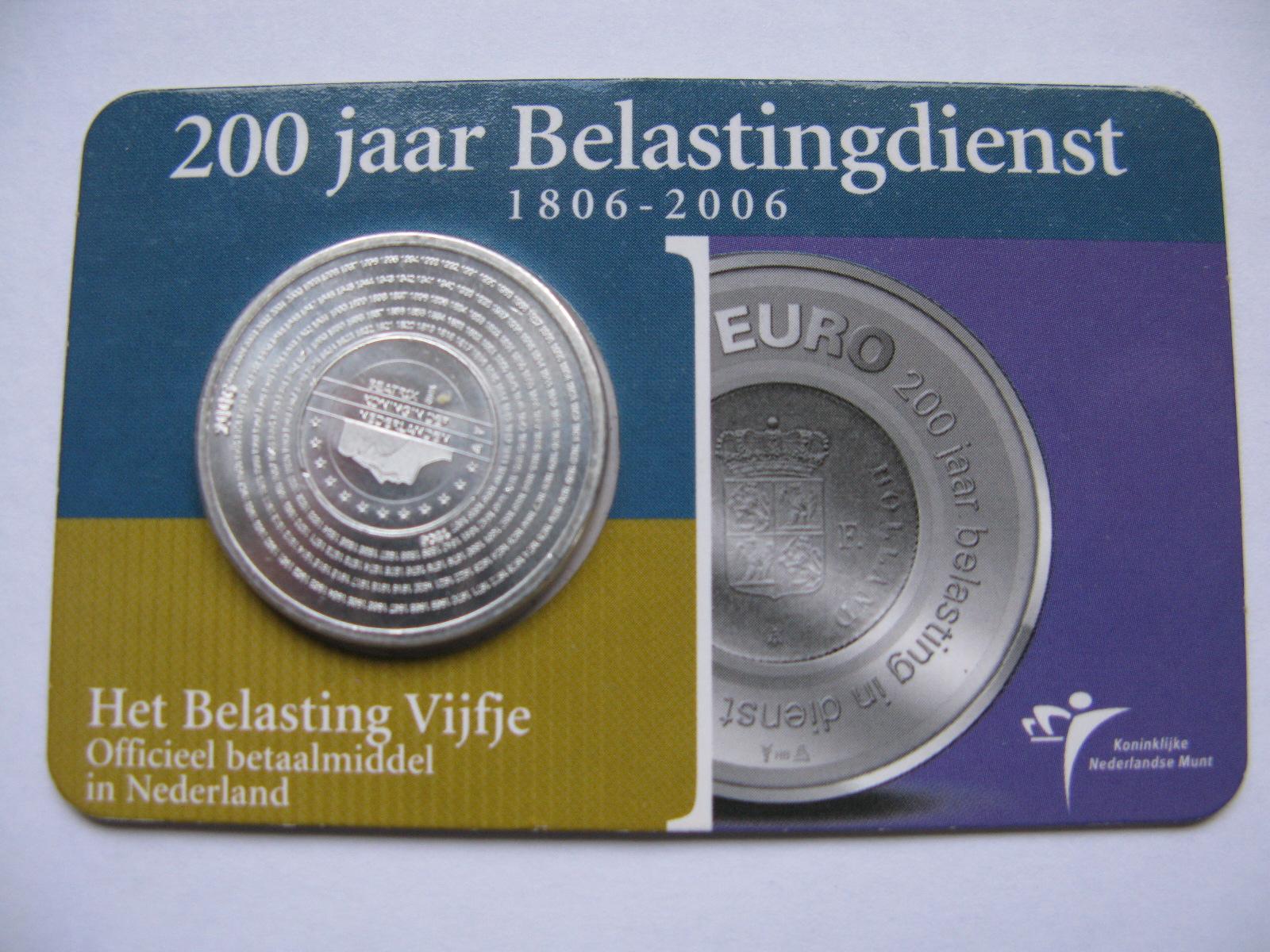 Нидерланды 5 евро 2006 г. 200-летие финансовой системе