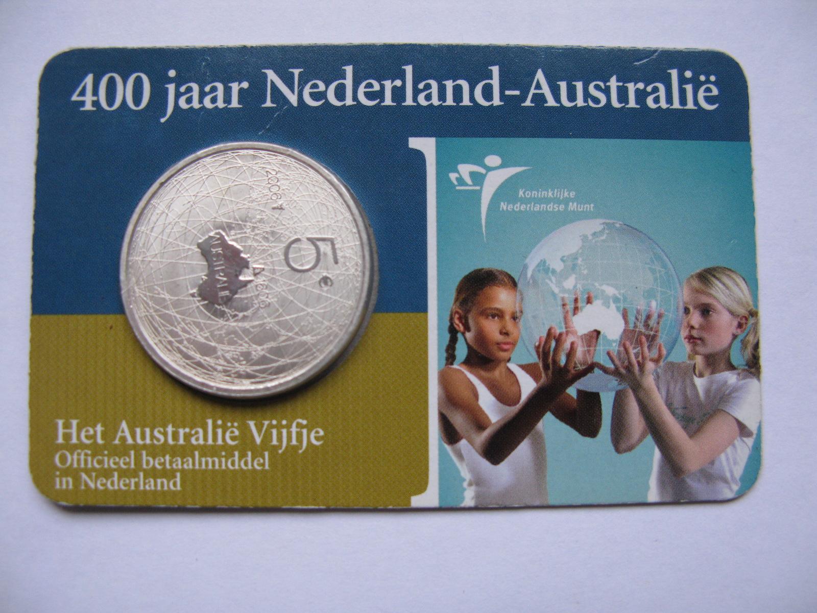 Нидерланды 5 евро 2006 г. 400-летие открытия Австралии