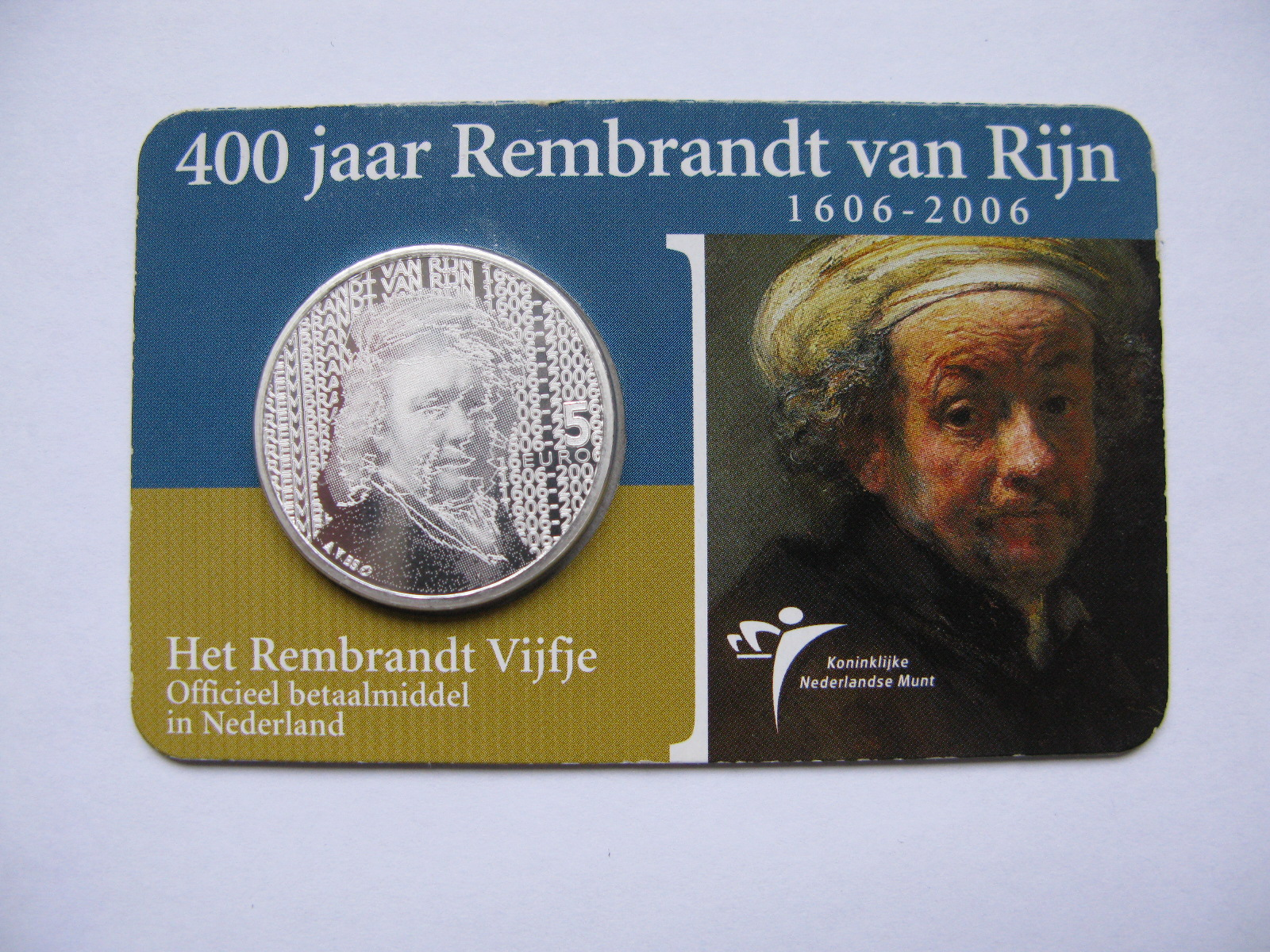 Нидерланды 5 евро 2006 г. 400 лет со дня рождения Рембрандта