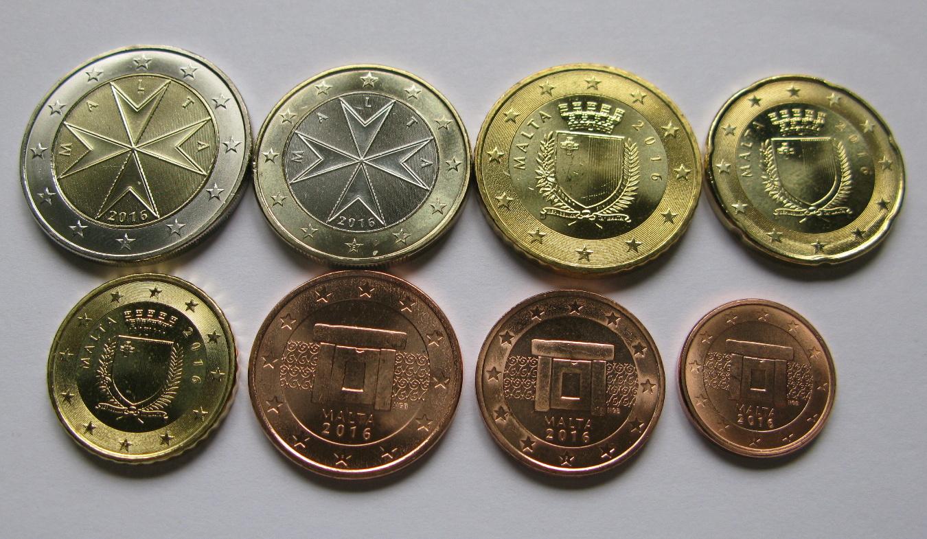 Мальта набор евро  2016 UNC