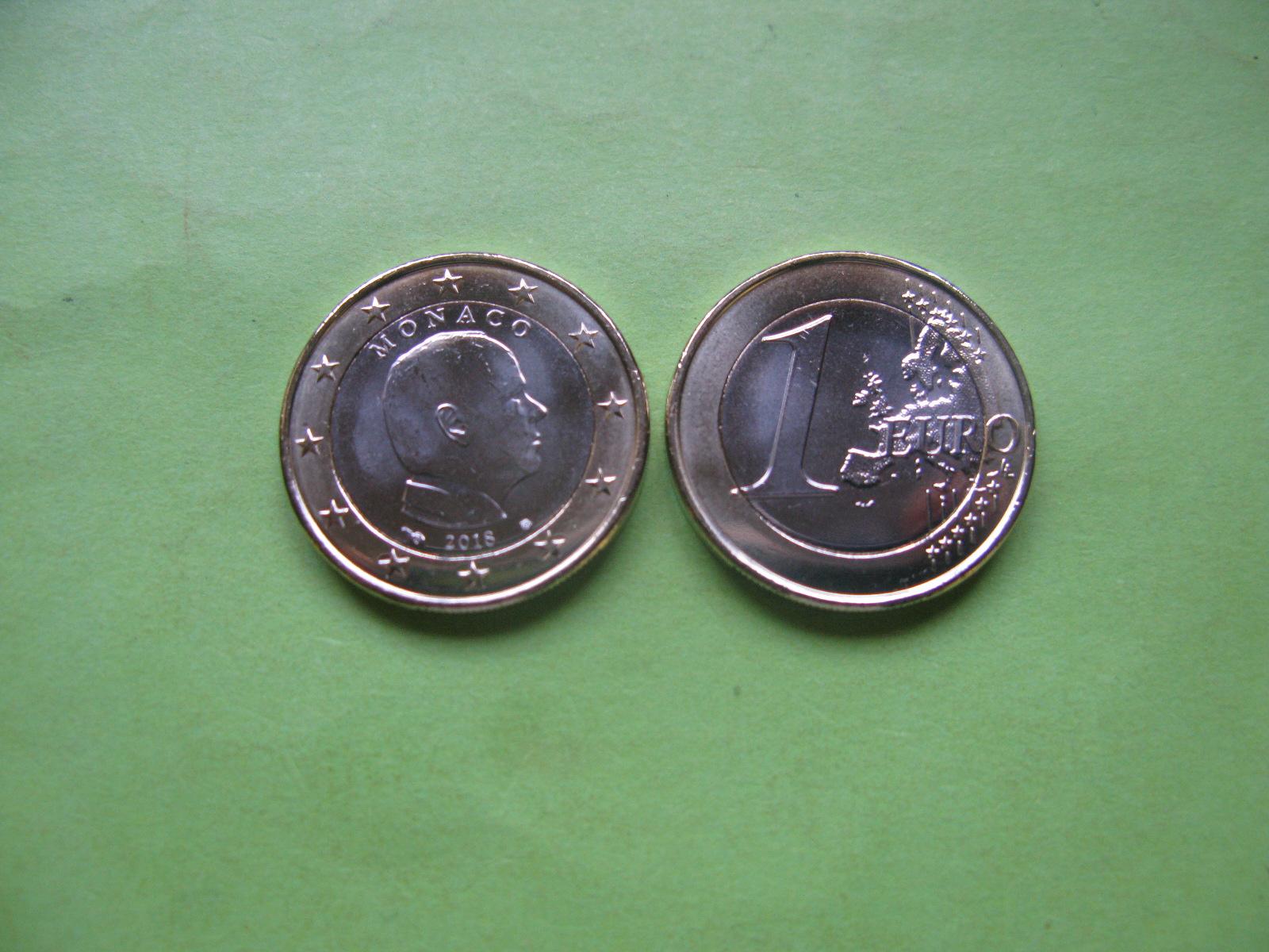 Монако 1 евро 2018 г. UNC