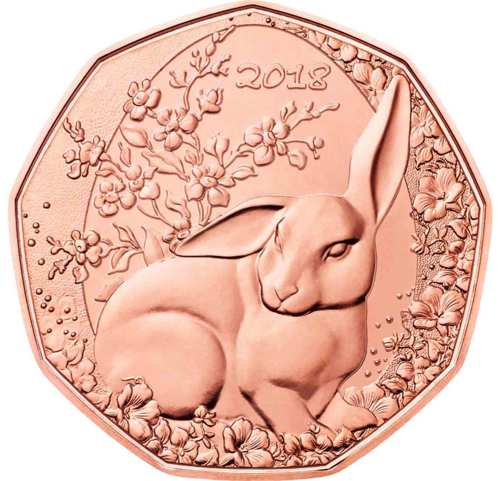Австрия 5 евро 2018 г. Пасхальный кролик