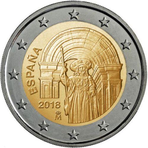 Испания 2 евро 2018 г. Сантьяго-де-Компостела