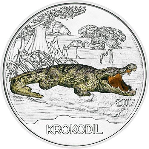 Австрия 3 евро 2017 г. Крокодил