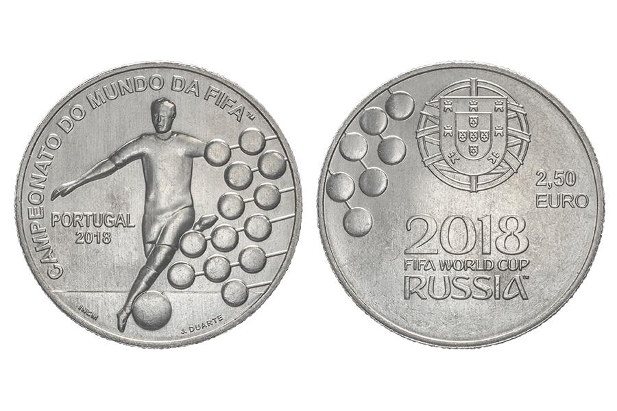 Португалия 2,5 евро 2018 г. Чемпионат мира по футболу Россия 2018