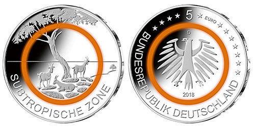 Германия 5 евро 2018 г. G