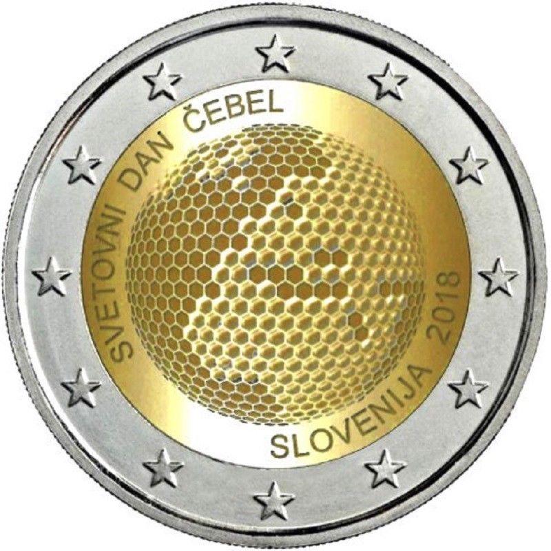 Словения 2 евро 2018 г. Всемирный день пчелы .