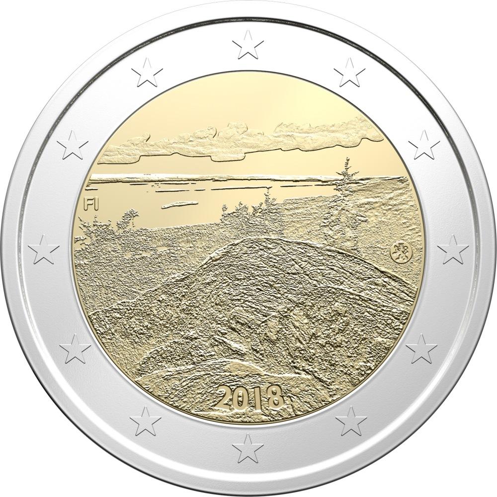 Финляндия 2 евро 2018 г. Пейзаж Коли