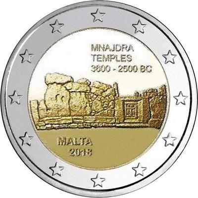 Мальта 2 евро 2018 г. Мнайдра