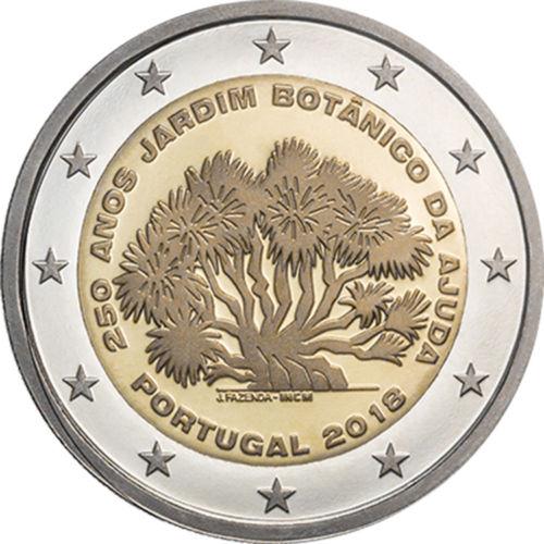 Португалия 2 евро 2018 г. 250-летие Ботанического сада Ажуда в Лиссабоне