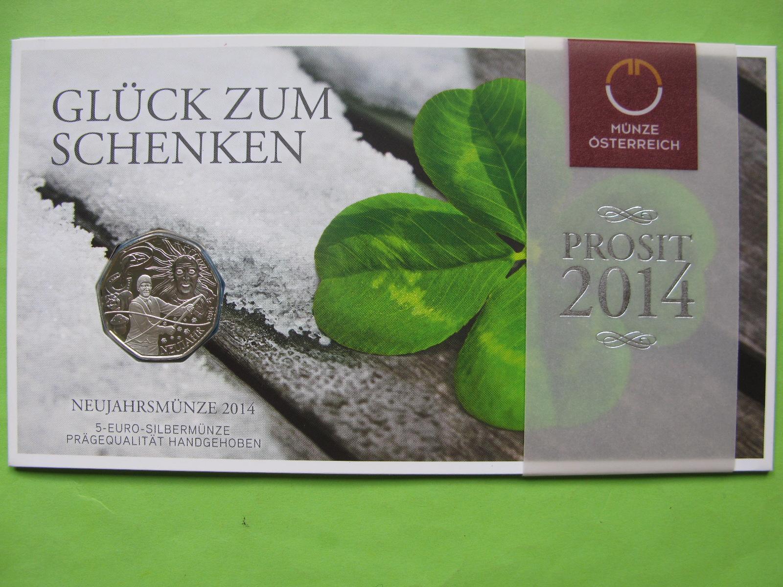 Австрия 5 евро 2014 г. Новый год
