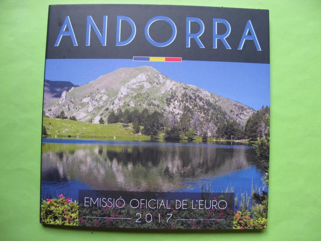 Андорра официальный набор евро 2017 г.