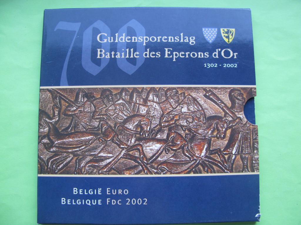 Бельгия официальный набор евро монет 2002 г.