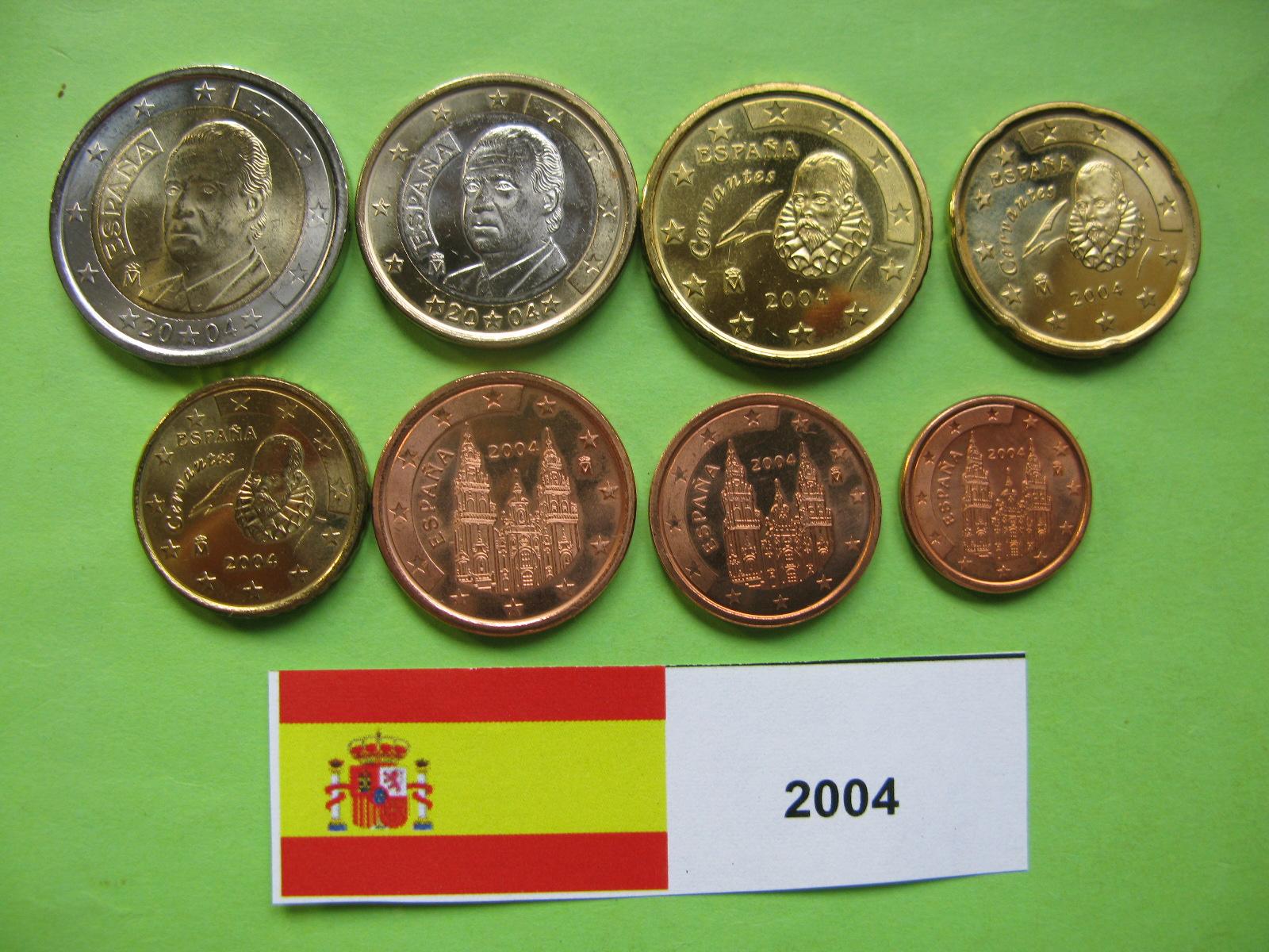 Испания  набор евро  2004 UNC.