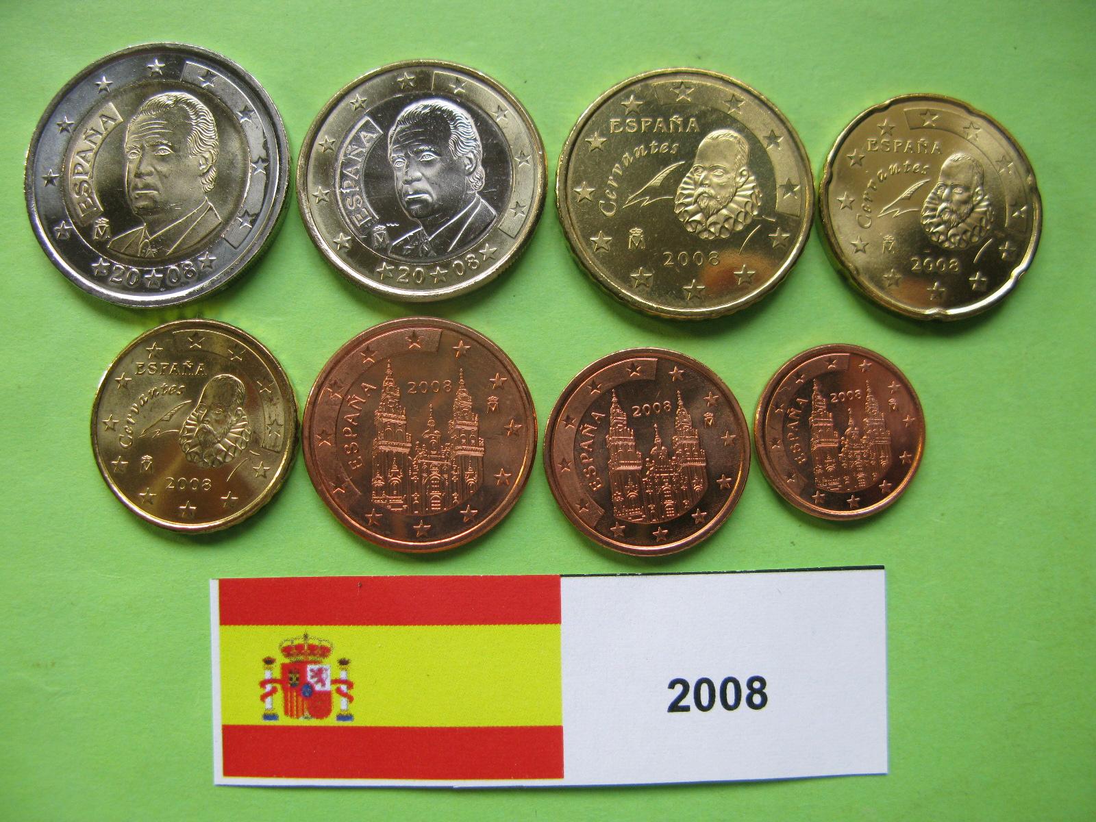Испания  набор евро 2008  UNC.