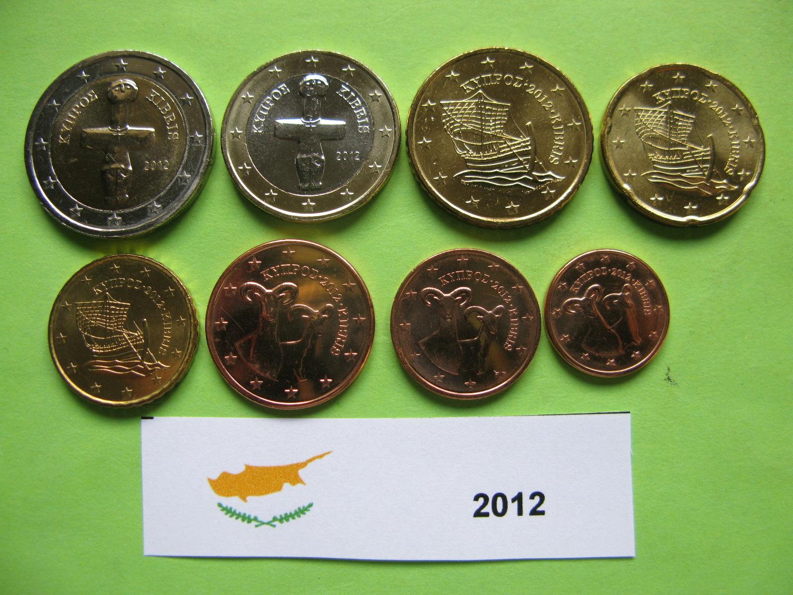 Кипр набор  монет 2012 г. UNC