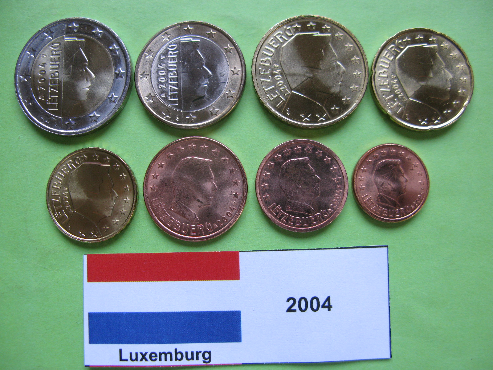 Люксембург  набор евро 2004  UNC