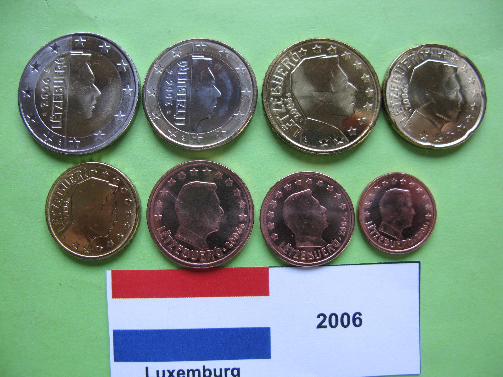 Люксембург набор евро  2006  UNC
