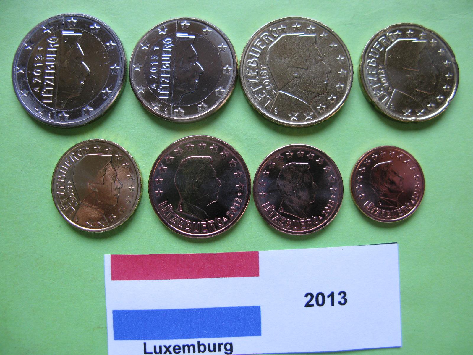 Люксембург набор евро  2013  UNC
