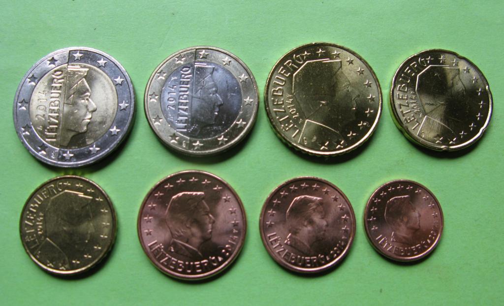 Люксембург набор евро 2014  UNC