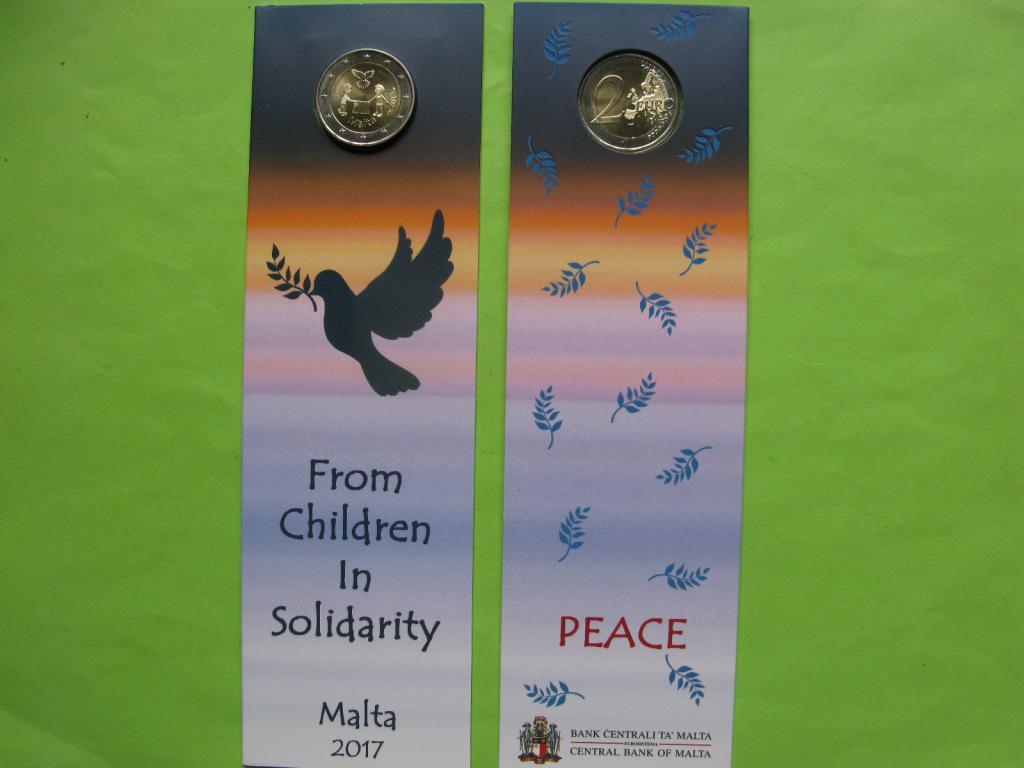 Мальта 2 евро 2017 г.  Мир (в карточке)