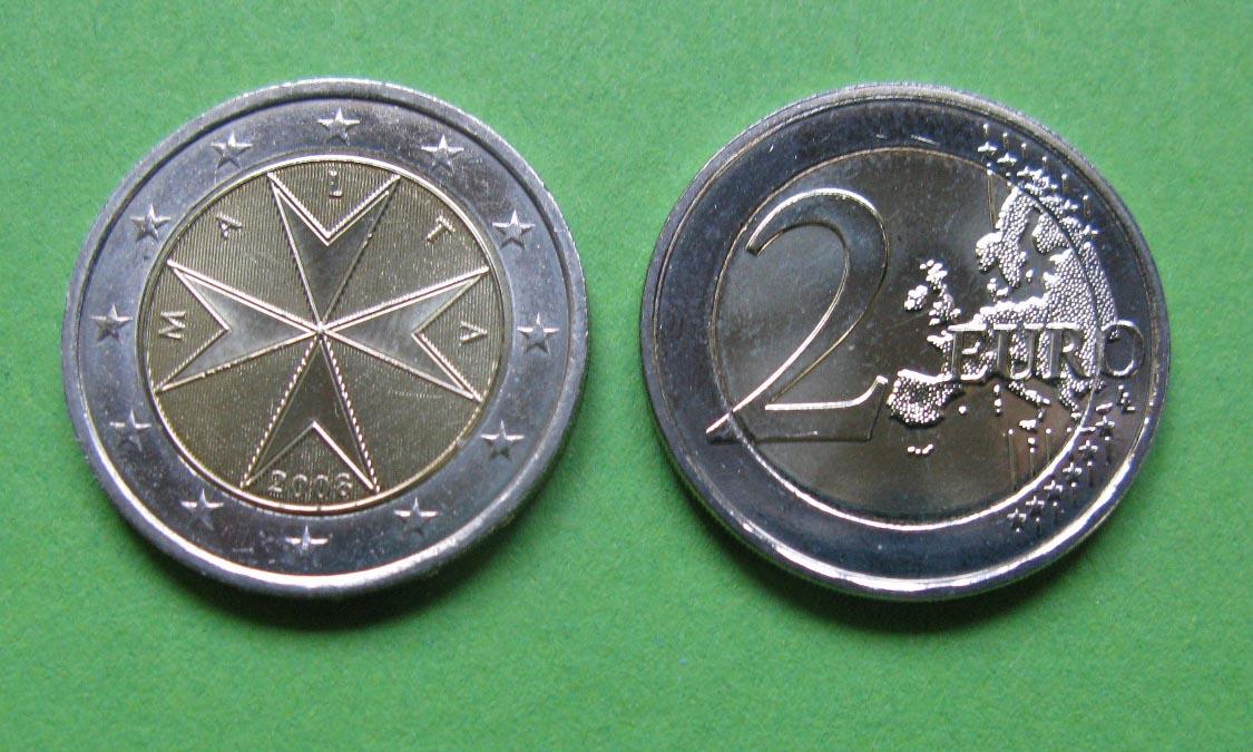 Мальта 2 евро 2016 г. UNC.