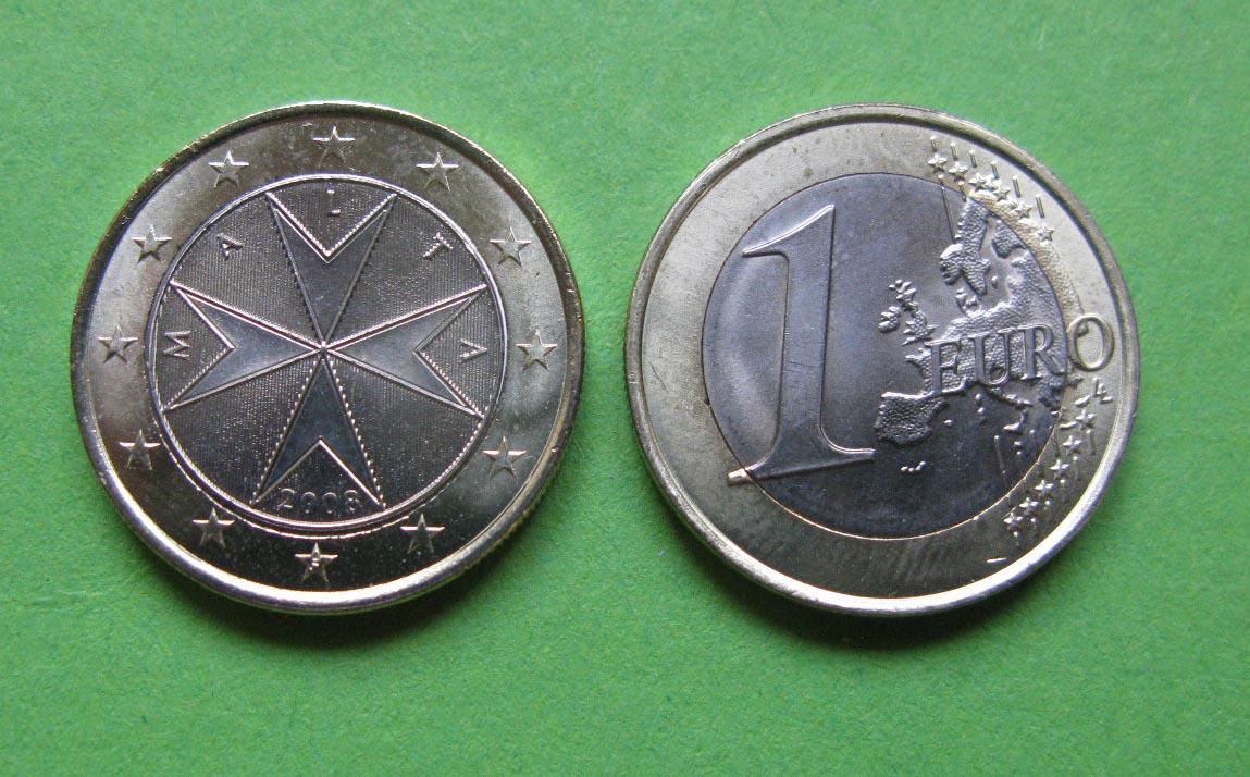 Мальта 1 евро 2016 г. UNC.
