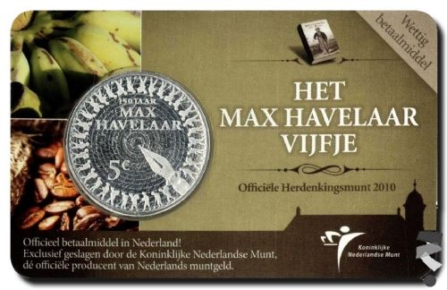 Нидерланды 5 евро 2010 г.  Макс Хавелаар