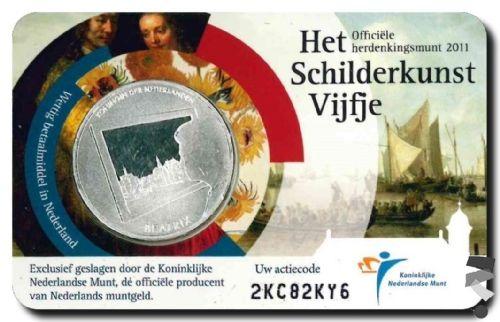 Нидерланды 5 евро 2011 г.  Живопись Нидерландов