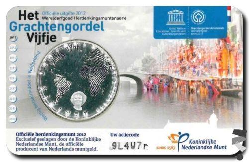 Нидерланды 5 евро 2012 г. 400 лет каналам Амстердама