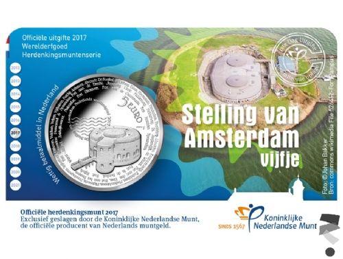 Нидерланды 5 евро 2017 г.  Линия оборонительных сооружений Амстердама