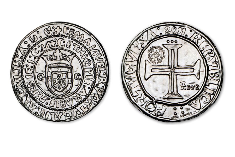 Португалия 7,5 евро 2011 г. «Португал» Короля Мануэль I