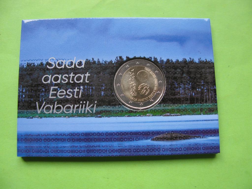 Эстония 2 евро 2018 г. 100 лет Эстонской Республике.
